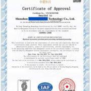 ISO9001 English CERTIFICATES